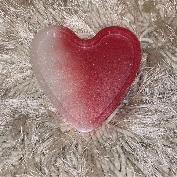 Resin Pink Ombré Heart Jewelry Tray